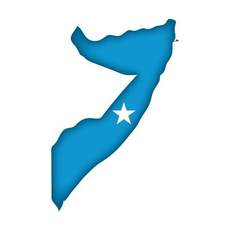 africa maps: map flag Somalia