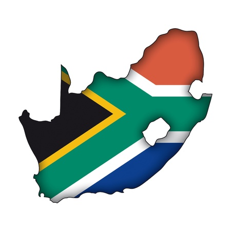 южный: Карта флагом Южной Африки