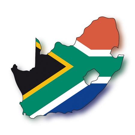 graphing: Mapa de la bandera de Sud�frica