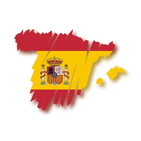 map flag Spain Stock Vector - 10648747