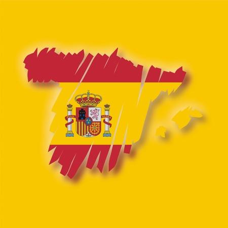 map flag Spain Vector