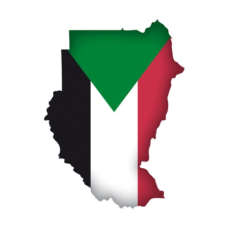 sudan: map flag Sudan Illustration