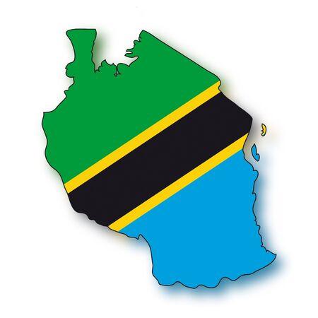 map flag Tanzania
