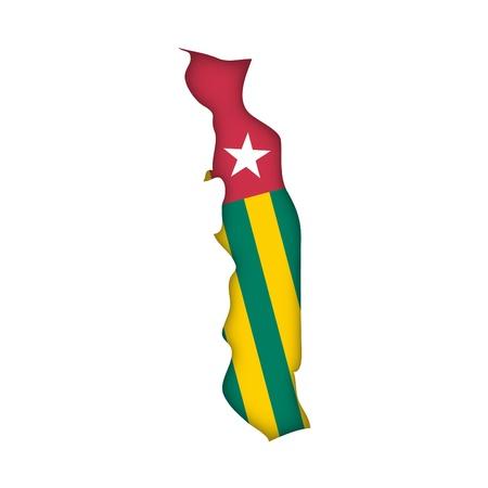 togo: map flag Togo