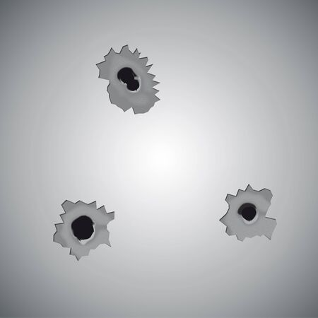 punched through: bullet holes