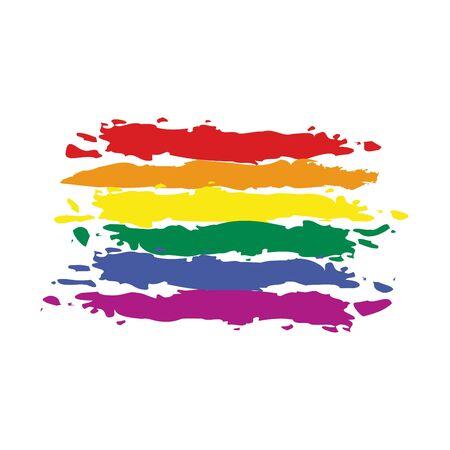 gay: Regenbogen-Flagge Karte