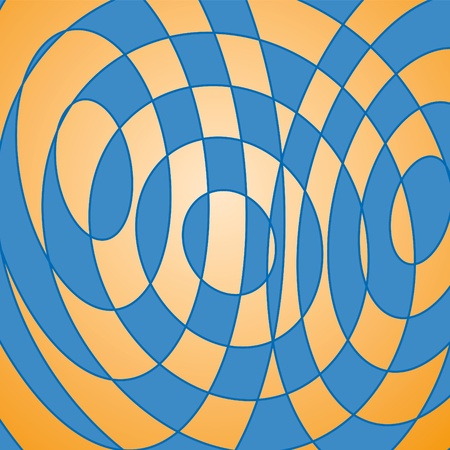 curved line: geometric background Illustration