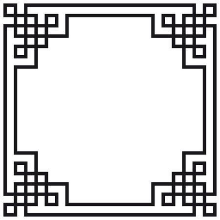 ornamentation: Geometric frame