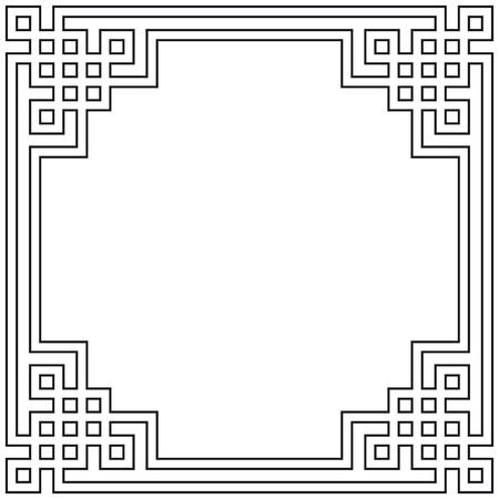 kształt: Geometryczna ramka