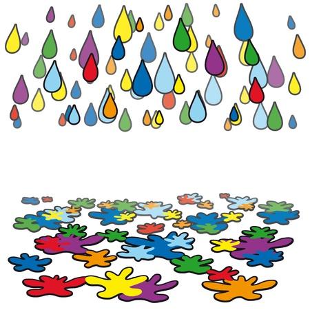 rain color Stock Vector - 10665343