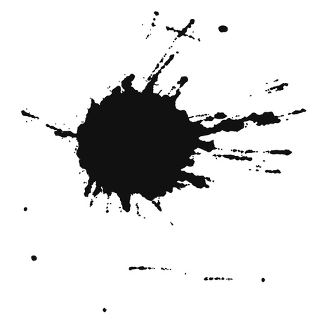 the ink blot: Spot color Illustration