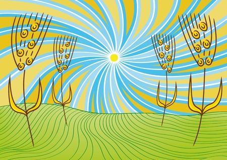 unreal: landscape and wheat