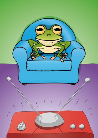 frog watch  TV Vector