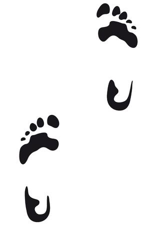 foot print: empreinte Illustration
