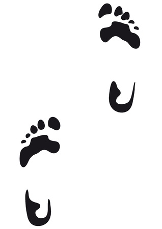footprints in the sand: foot print Illustration