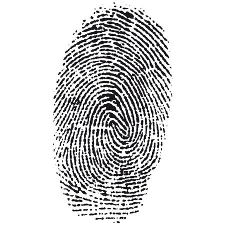odcisk kciuka: odcisk palca Ilustracja