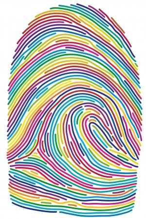 huella digital Ilustración de vector