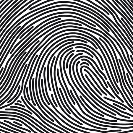 personal identity: huella dactilar Vectores