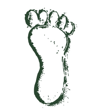 footprints in sand: foot print Illustration