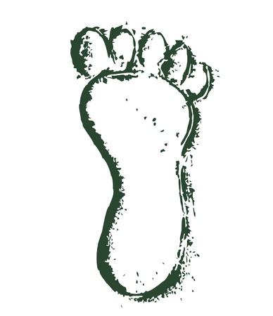 huellas de pies: impresión de pie