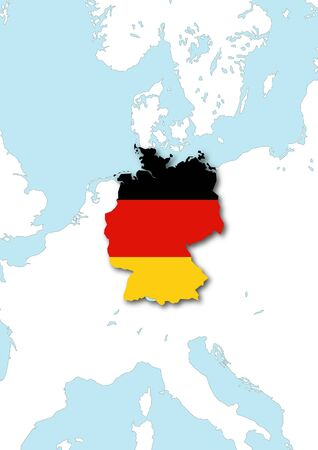 Map flag Germany photo