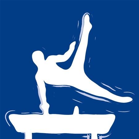 acrobacia: gimnasta