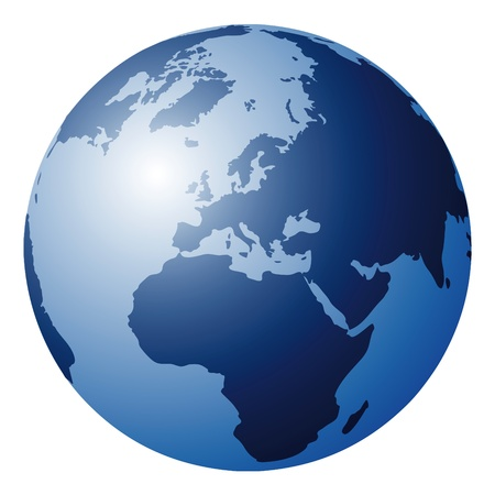 hemisphere: world globe Illustration