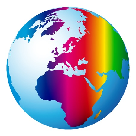 world globe Stock Vector - 10665080