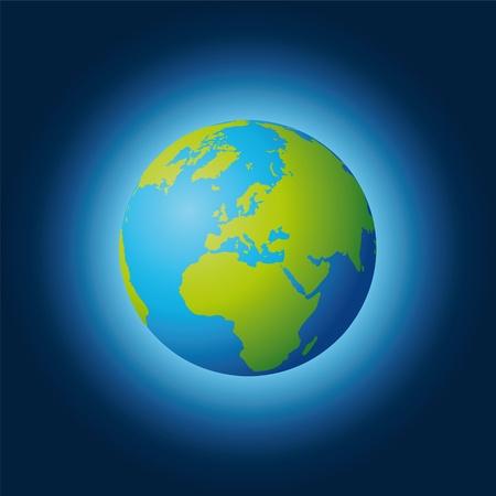 world globe Stock Vector - 10665299