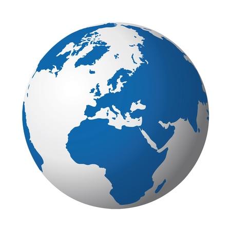 maps globes: world globe Illustration