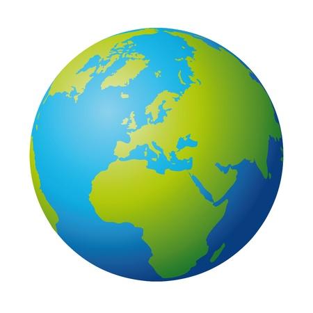 wereldbol groen: wereldbol Stock Illustratie