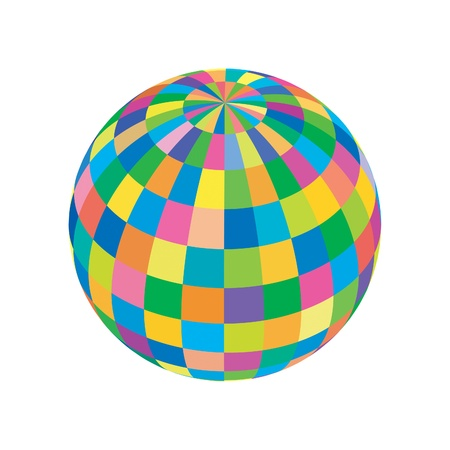 circumference: colored sphere