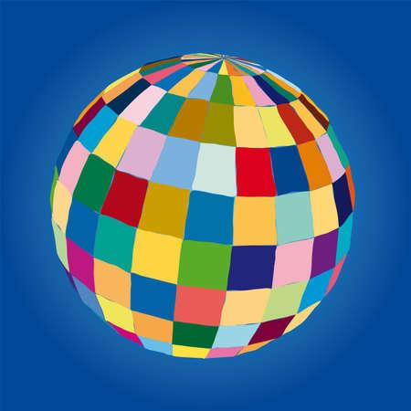 suspend: colored sphere