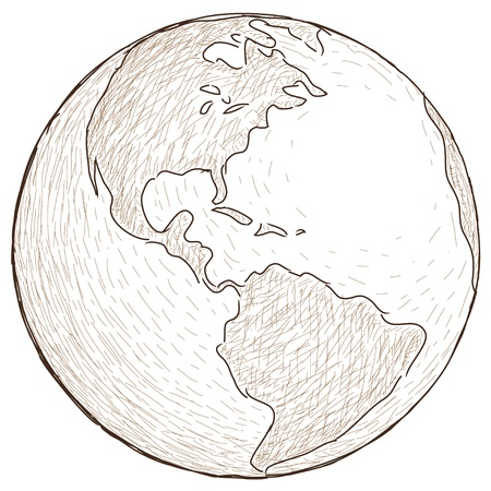 world globe Stock Vector - 10681188