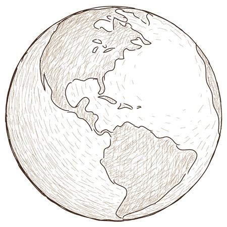 geography: world globe Illustration