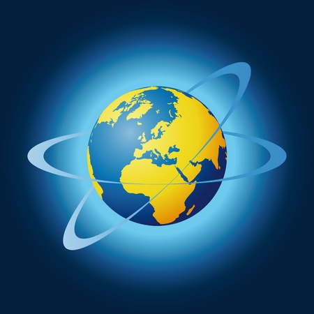world globe Stock Vector - 10665269