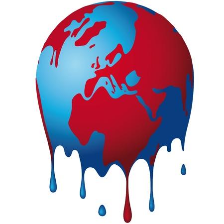 hot temperature: el mundo se disuelve Vectores