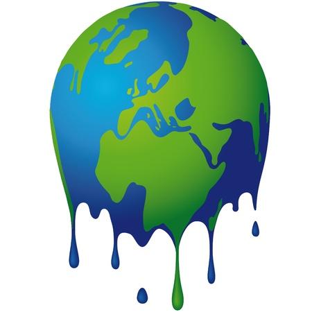 the world dissolves Vector