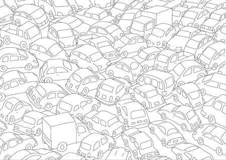 the traffic jam: Car traffic jam