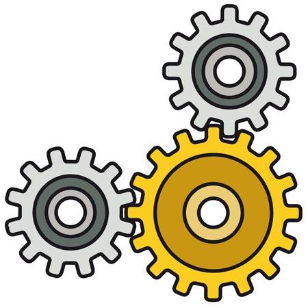 engrenages: m�canisme Illustration