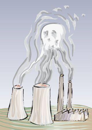 Pollution hazard Stock Vector - 10681642