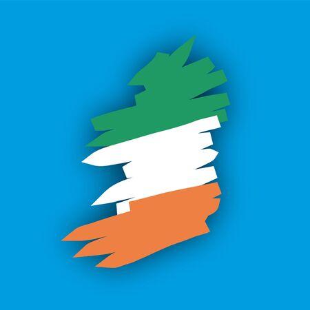 map flag Ireland Stock Vector - 10664874