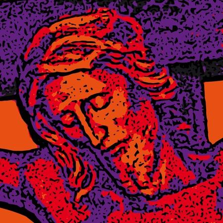 jesus on cross: Ges� Vettoriali