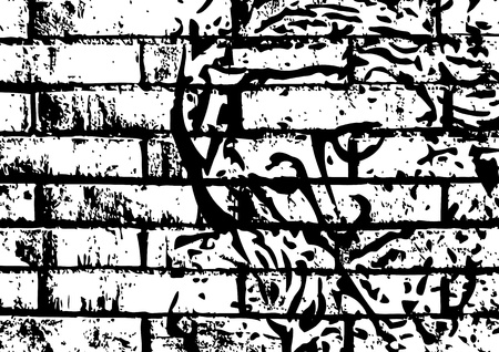 crown of thorns: jesus on the wall Illustration