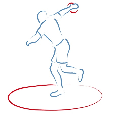 tossing: Discus Throw Illustration