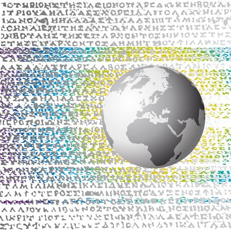 greek alphabet: world and letters Illustration