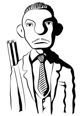 extortion: mafioso Illustration