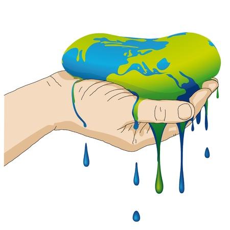 calentamiento global: la tierra se derrite