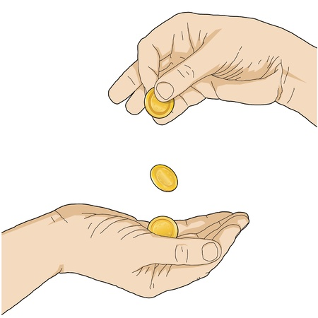 giving money Vector