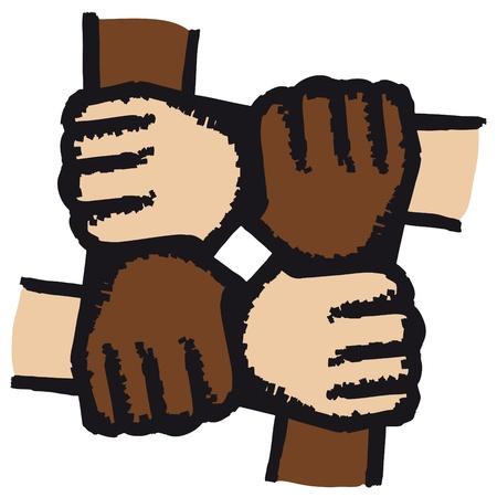pacto: Manos unidas Vectores